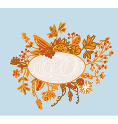 Frame for autumn - hand-drawn vector image vector image
