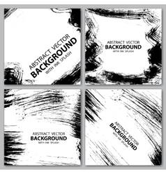 Grunge black backgrounds vector image vector image