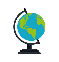 planet earth globe icon image vector image vector image