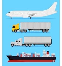 Shipping transportation vector image vector image