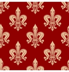 Beige and maroon floral seamless pattern vector
