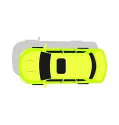 Green Car Top View Flat Design vector image vector image
