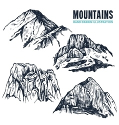 Hand Drawn Mountains Contours vector image vector image