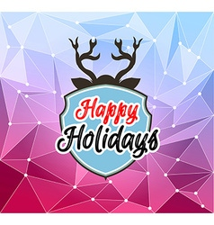 Happy Holiday and Merry Christmas Seasonal vector image