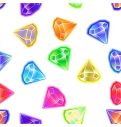 seamless pattern background gems and diamonds vector image