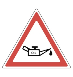 Sign oil change vector