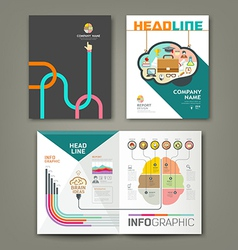 Annual report brain concepts infographic vector image vector image
