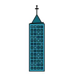 building town urban skyscraper vector image vector image