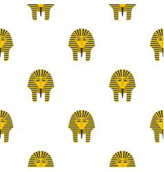 egyptian golden pharaohs mask pattern seamless vector image vector image