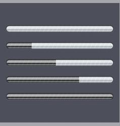 loading progress bar black web interface with vector image vector image