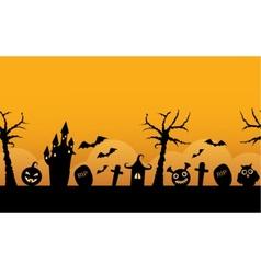 Seamless horizontal background halloween vector image vector image