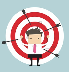 Businessman on archery targets vector image vector image