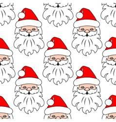 Christmas seamless pattern background with Santa vector image vector image