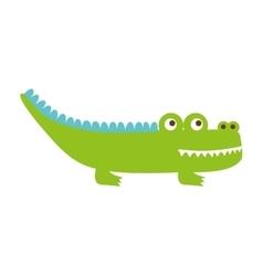 crocodile cute isolated icon vector image