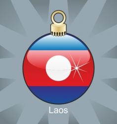 Laos bulb vector image