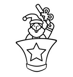 merry christmas elf character vector image