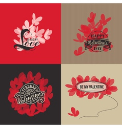 Valentines day cards with butterflies vector image vector image
