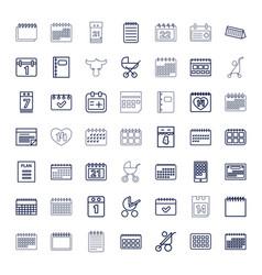 49 calendar icons vector