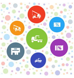 7 advertising icons vector
