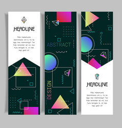Abstract polygonal design banners templates vector