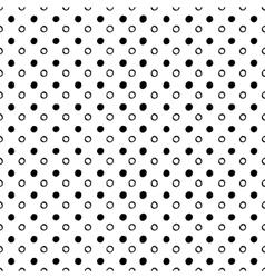 Abstract seamless circles pattern vector image