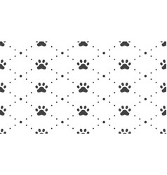 Animal tracks seamless pattern with flat vector