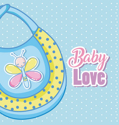 Baby love card cartoons vector