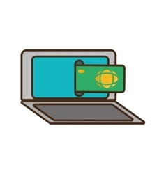 bank online ecommerce icon vector image