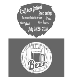 Beer Festival Two-color Flayer vector image vector image