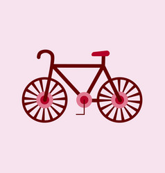 Bike icon flat in black on white background eps 10 vector