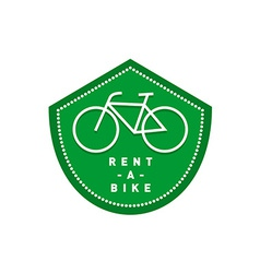 Bike rental logo Bicycle shop signboard vector image