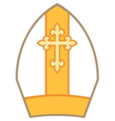 Bishop mitre or miter vector