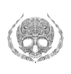 Black and White Tattoo Skull vector
