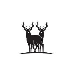 Black deer emblem vector