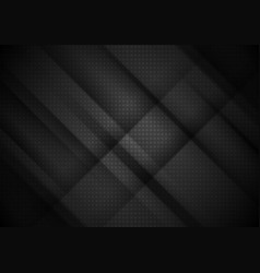 Black tech stripes abstract background vector