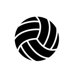 black volleyball balls icon game equipment vector image