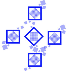 blue square pattern vector image