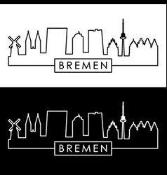 bremen skyline linear style editable file vector image