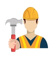 builder constructor worker icon vector image
