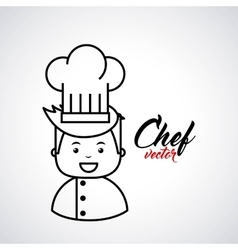 chef isolated design vector image