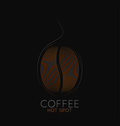 Coffee beans logo coffeehouse or cafe label vector