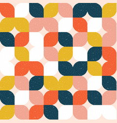 Colorful geometric seamless pattern retro style vector