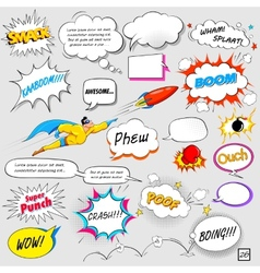 Comic speech bubble vector