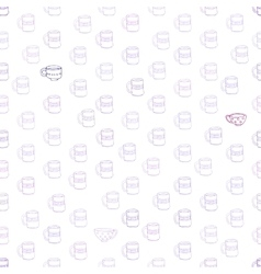 cute mugs and cups background vector image
