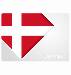 Danish flag design background vector