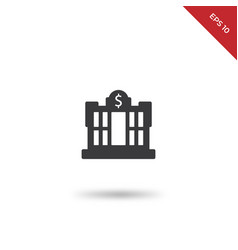 dollar central bank icon vector image