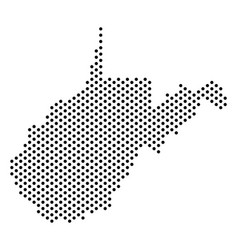 Dot west virginia state map vector