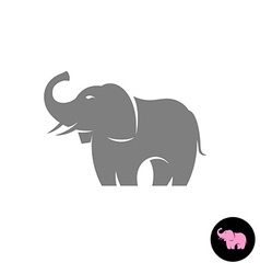 Elephant stylized logo silhouette Small pink vector image