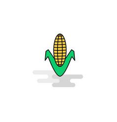 flat corn icon vector image