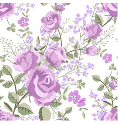 floral pattern with roses vector image